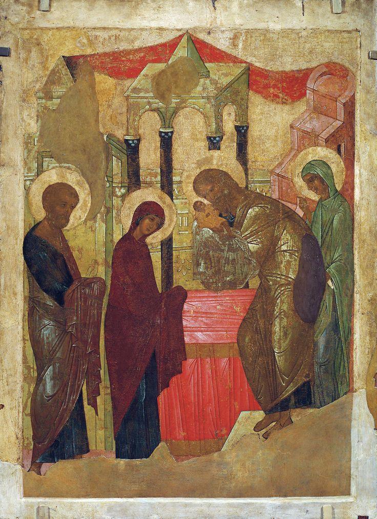 Сретение Господне. Икона, XV век. Мастерская Андрея Рублёва