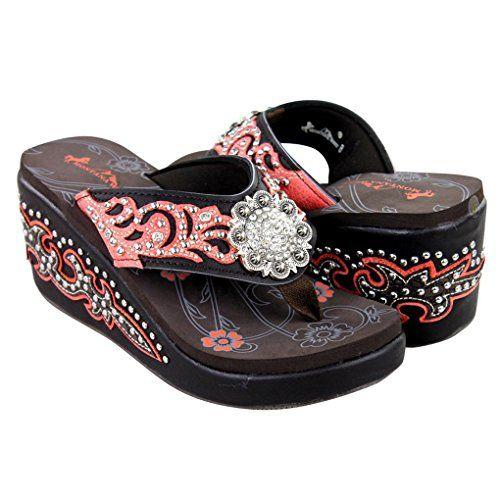 b0d7b3857 Montana West Women s Hand Beaded Flip Flop Sandals (10B(M... http