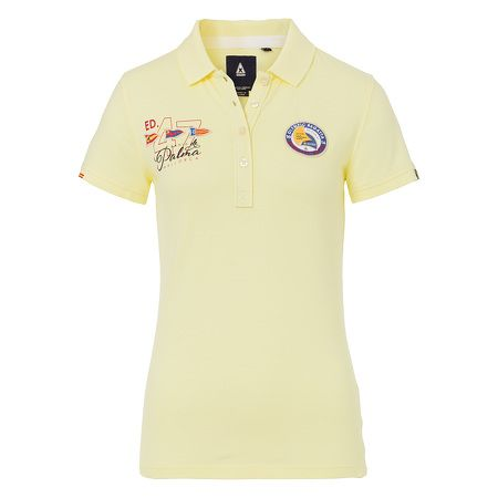 Polo Shirt Princesa Polo Women - Sporty polo shirt made of premium-quality cotton for this year's Princesa Sofia Regatta in Mallorca. Bright colours and intricate embellishments with patches, prints and embroideries give this event polo shirt its exclusive regatta appearance.
