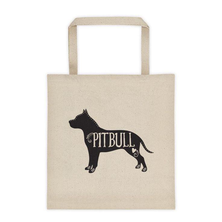 Pitbull Tote, Pitbull Dog Breed Bag, I Love My Pitbull
