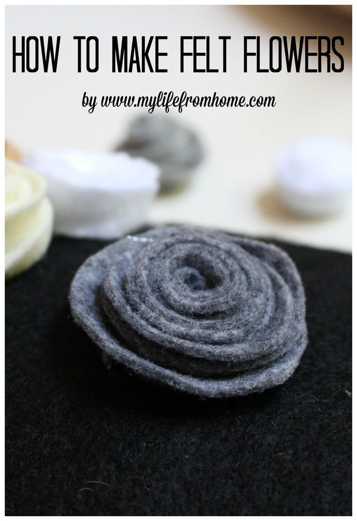 How to Make Felt Flowers DIY by www.mylifefromhome.com