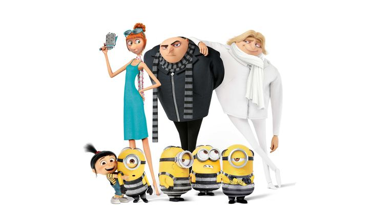 4K Convict Minions, Agnes, Lucy Wilde, Gru and Dru Despicable Me 3 Movie 2017 3840x2160