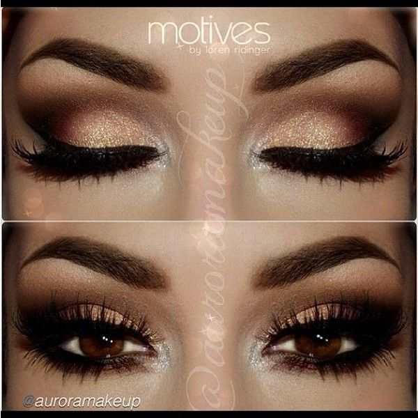 Wedding Eye Makeup For Brown Eyes Cute Makeup Ideas ❤ liked on Polyvore featuring beauty products, makeup, eye makeup, eyes and maquillage