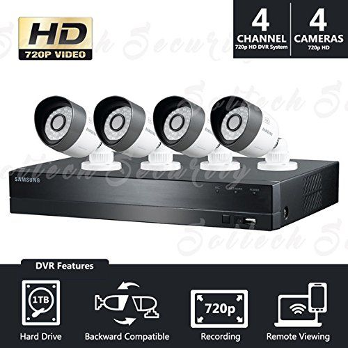 Samsung SDH-B3040 4 Channel All-in-one 1TB HDD DVR Security System w/ 4 720p HD Cameras (Seller Refurbished)