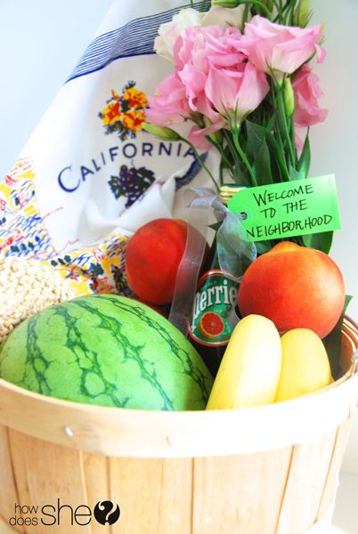 46 best gift baskets images on pinterest gift baskets gift healthy house warming basket with a diy knit washcloth i especially love the favorite negle Choice Image