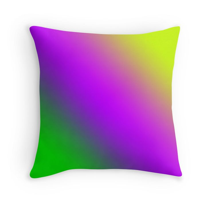 Beautiful Cushions/The Block Collection/TripleThreat Gradient Electric Green Purple Lime