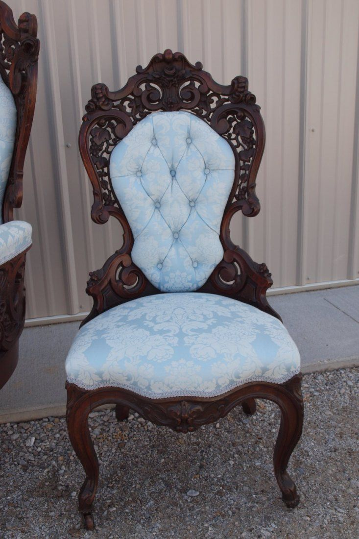 Pics photos rococo style chair sofa rococo - Laminated Sofa Rosewood Side Chairs Sillas Pinterest Side Chair Rococo And Victorian Decor