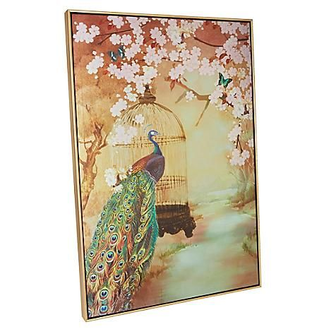 Arthouse Metallic Colour Peacock Canvas