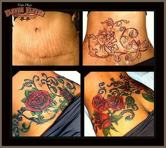 37 best tummy scar cover up images on pinterest scar for Stretch mark tattoo camouflage