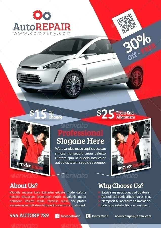 Free Auto Flyer Templates Car Repair Free Template Templates