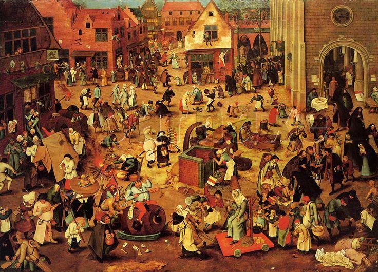 Peter Bruegel-Le combat entre Carnaval et Careme