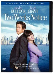 Two Weeks Notice Full-Screen Edition DVD Sandra Bullock Hugh Grant NEW SEALED FREE SHIPPING!