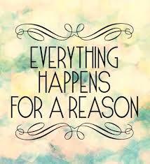 tudo acontece por uma razão