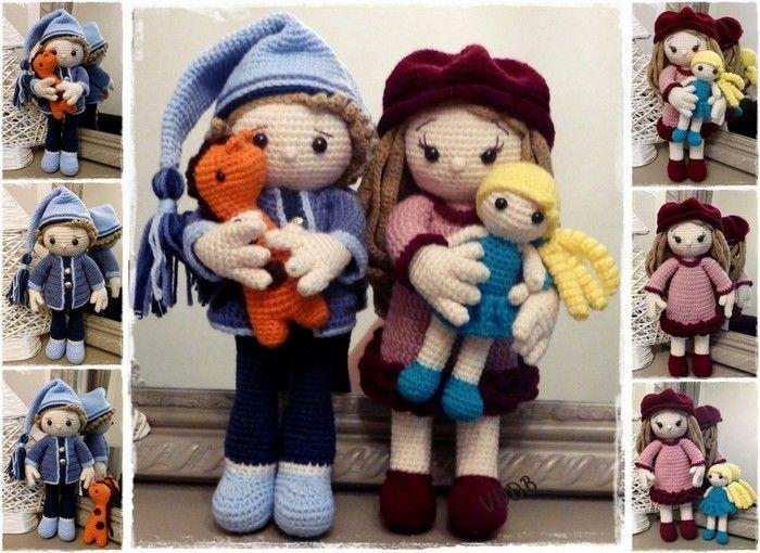 """Voici Arthur et Louise  (les tutos d """"un Monde en crochet"""")"""