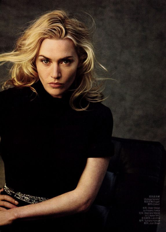 Kate Winslet, Photograph by Peter Lindbergh for Vogue China.