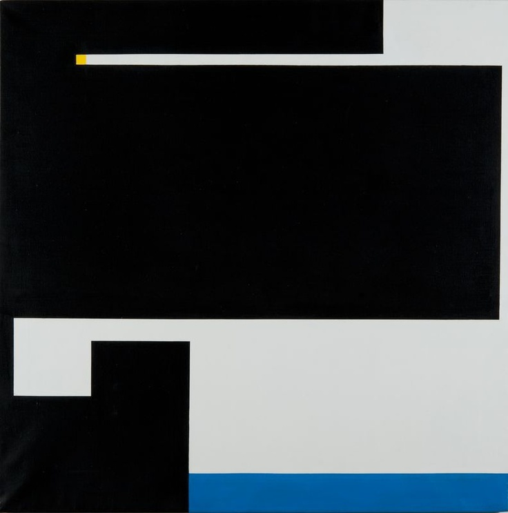 Bruno Munari (Milano 1907-1998)  Negativo positivo 1951, olio su tela (cm 80x80)  Firmato e datato 1951 al retro