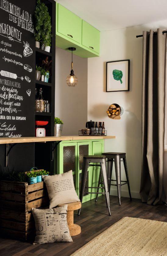 ¡Crea una pizarra en la pared de tu cocina! #Idea