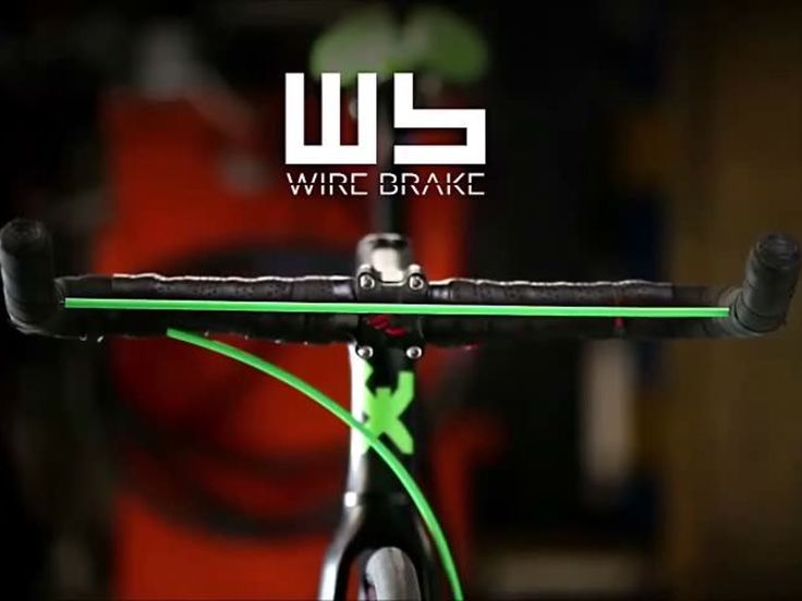 a new concept bicycle brake, consisting of a single tensioned steel cable that determines the braking.