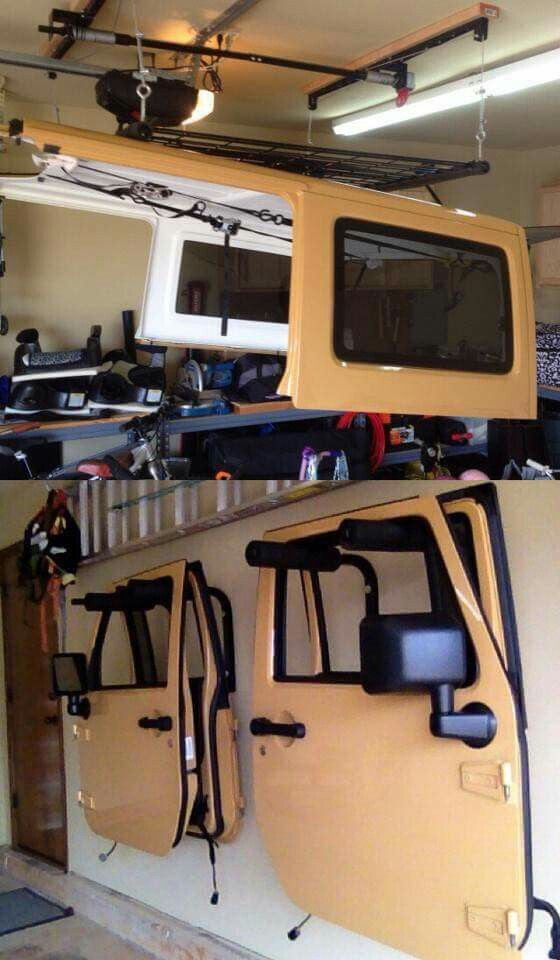 Jeep storage doors top