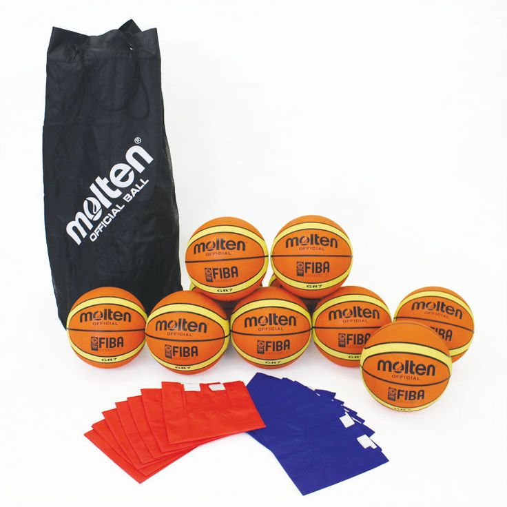 MOLTEN BASKETBALL COACHING KIT - contains 10 Molten BGR Series basketballs, 14 training bibs all contained in a handy breathable Molten ball sack. Available as a primary age kit (size 3 balls and small bibs), junior kit (size 4 balls and medium bibs) or secondary kit (size 5 balls and large bibs).