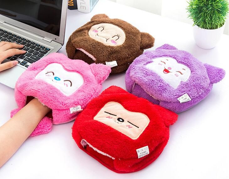 Mouse Pad USB Warmer Cartoon With Gel Wrist Support Cute Mousepad Comfort Heating tapete de rato cojin de raton Christmas Gifts