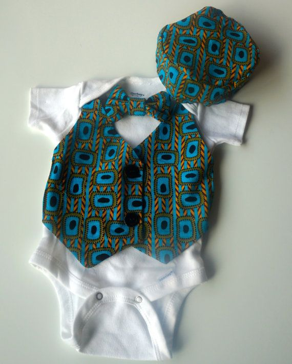 Baby Boy Suit & Bow Tie with Hat Kufi  by MotherLandChildren