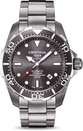 Certina Watch DS Action Divers Automatic #bezel-unidirectional #bracelet-strap-titanium #brand-certina #case-material-titanium #case-width-43-2mm #date-yes #delivery-timescale-7-10-days #dial-colour-grey #gender-mens #luxury #movement-automatic #official-stockist-for-certina-watches #packaging-certina-watch-packaging #style-divers #subcat-ds-action #supplier-model-no-c013-407-44-081-00 #warranty-certina-official-2-year-guarantee #water-resistant-200m