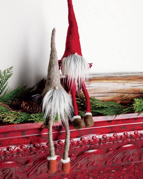 Now these are some 'elves on a shelf' that I can totally live with.  Long Legged Elves - OliveandCocoa.com