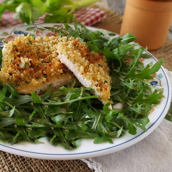 Petto di pollo gratinato al limone cottura in forno semplice e veloce