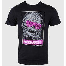 tričko pánské STAR WARS - Chewie Style - Black, STAR WARS