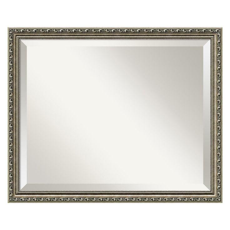 parisian silver wall mirror 22w x 18h in about amanti art amanti art