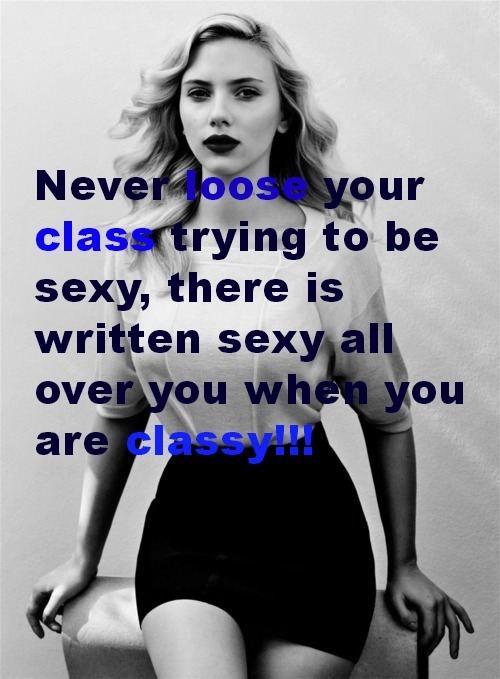 Sexy classy ladies quotes