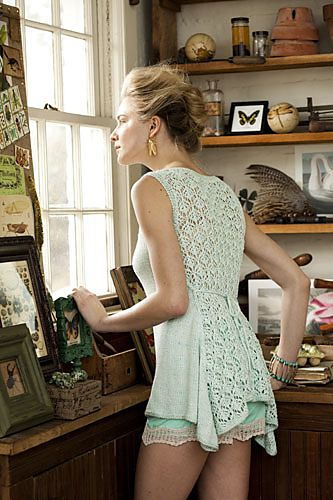Ravelry: #01 Tie Back Tank knitting pattern by Mari Tobita ||| Vogue Knitting's Spring/Summer 2013