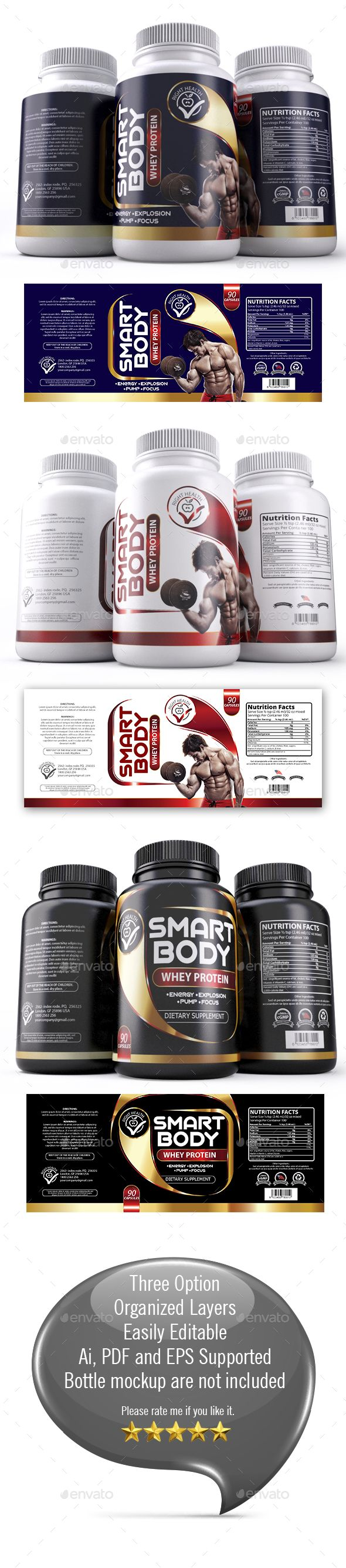 Supplement Label Template (003)