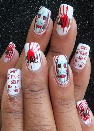 Halloween Saw    #nail #nails #nailart