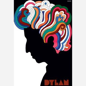 An authorized reproduction of the famous poster that was included in the Bob Dylan's Greatest Hits album in 1967. In 1954, with several university classmates, Milton Glaser co-founded the legendary Push Pin Studios, whose work would define modern graphic design.