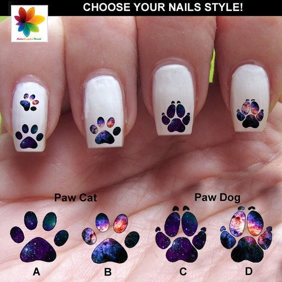 21 Best Nail Art Images On Pinterest Dog Cat Dog Paw Prints And