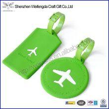 Renkli Yeni Tasarım Moda Seyahat PVC Bagaj Etiketi Yeşil Renk