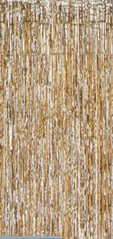 Gold shimmer Door  curtain, 3 feet wide, 8 foot drop
