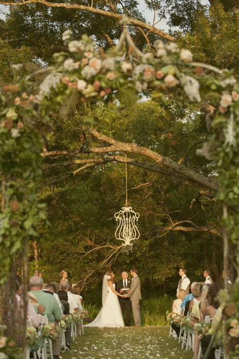 """I think I am just going to hand a """"chandelier"""" from the tree and just have that as the decoration for the front of the wedding ceremony. http://saddleworthhotel.co.uk/"""