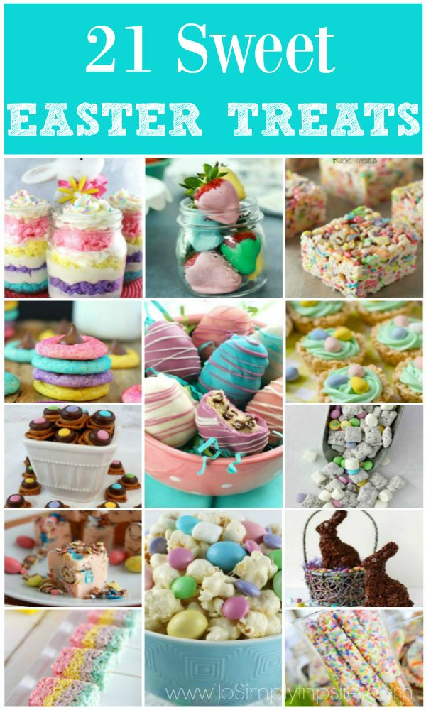 Any of these wonderful Easter Treats would be the perfect sweet addition to your Easter celebration this year!