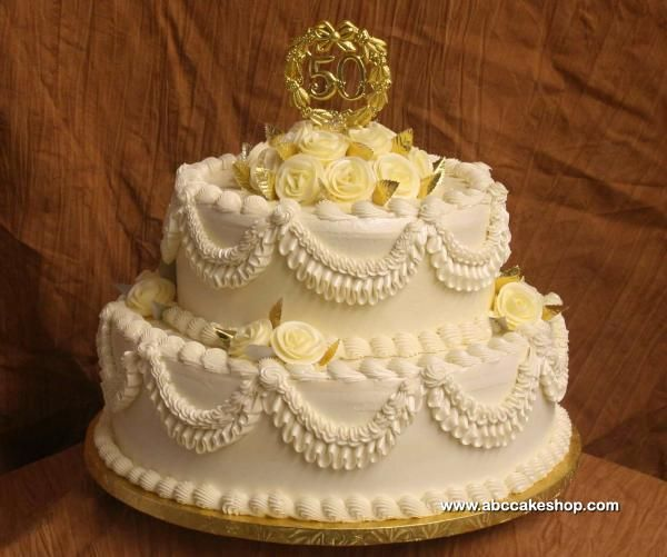 Decorations For Golden Wedding Cakes