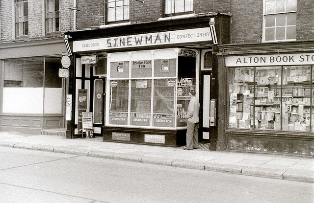 49, 51, and 53 High Street, Brompton, Gillingham, Kent, 3 August 1958 by allhails, via Flickr