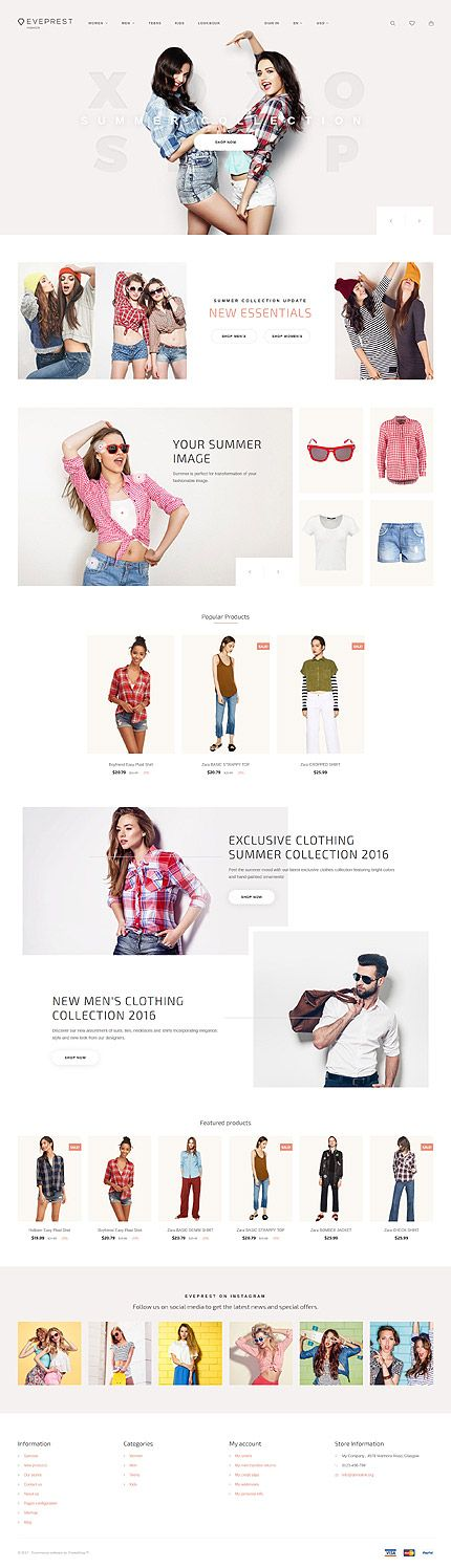 Trendy Young Clothing Online Store #Prestashop #template. #themes #business #responsive #webshop #Prestashopthemes