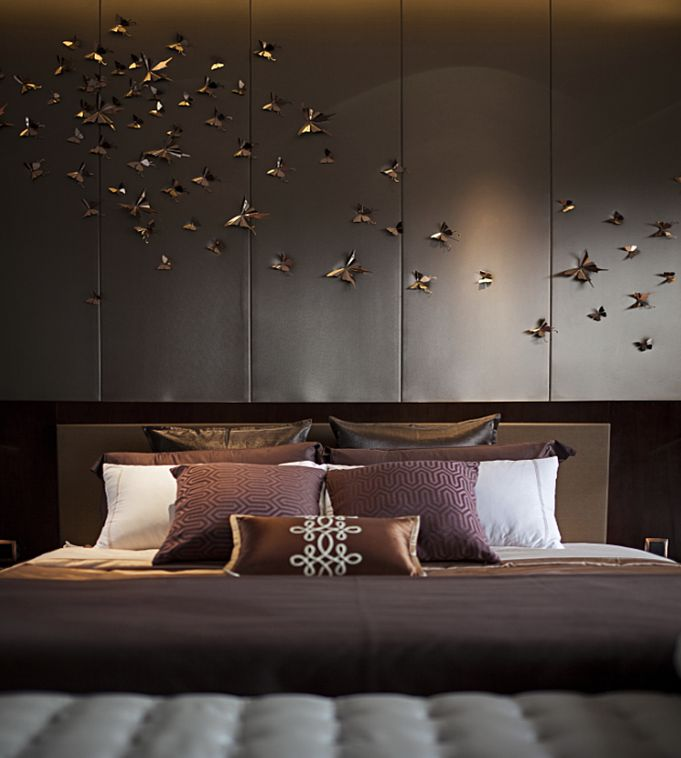 #Bedroom butterflies installation - Pinned onto ★ #WebinfusionHome ★