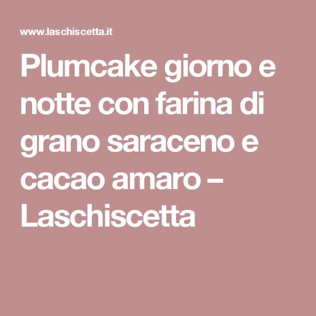 Plumcake giorno e notte con farina di grano saraceno e cacao amaro – Laschiscetta