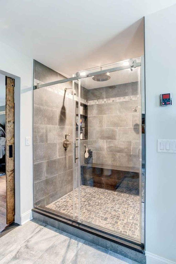 32 cool bathroom shower tile remodel design ideas in 2020