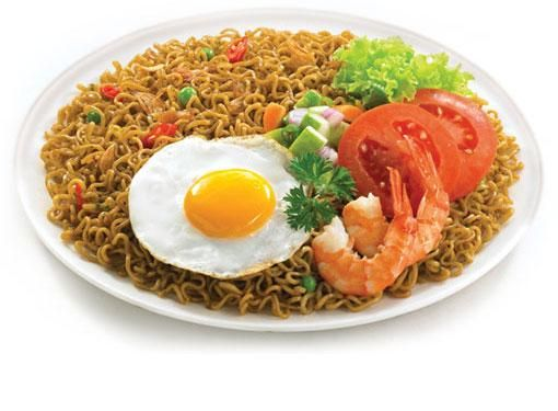 Indomie Goreng! Easy to prepare, add fried egg or fried sausages, voila!