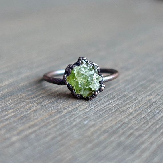Hey, I found this really awesome Etsy listing at https://www.etsy.com/listing/223826227/raw-peridot-ring-raw-ring-raw-crystal