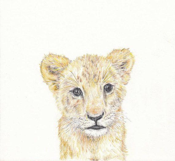 Baby animal print for nursery Lion digital download